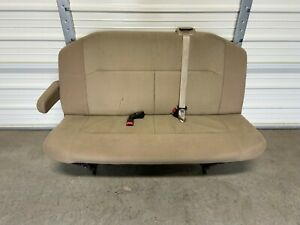 2008 2014 Ford Econoline Van Bench Seat 2nd Second Row 3 Person Tan Cloth