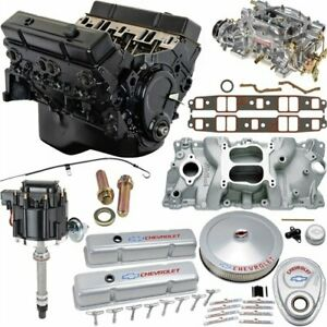 Jegs 7353k2 Small Block Chevy 350ci Crate Engine Kit Pre 1986 Cast Iron Cylinder
