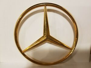 Mercedes Benz Star Rear Emblem 24kt Gold Plated New Old Stock Cars Prior To 1995