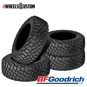 4 X New Bf Goodrich Mud Terrian T A Km3 Lt265 70r17 10 121 118q Tires