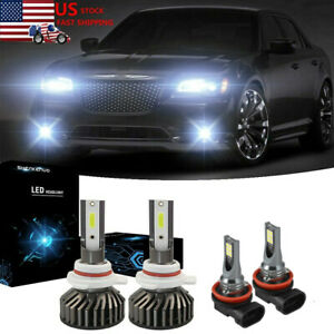 For Chrysler 300 2011 2013 2014 6000k 9012 Led Headlight H11 h16 Fog Bulbs
