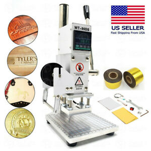 Leather Embossing Hot Foil Stamping Machine 5x7cm 2 Rolls 4cm Gold Foil Paper