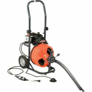 New Mini rooter Xp Drain sewer Cleaning Machine W 75 X 3 8 Cable