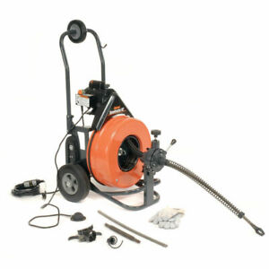 New Speedrooter 92 Drain sewer Cleaning Machine W 100 x3 4 Cable