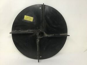 00057257 A Universal Salt Spreader 13 1 2 Steel Spinner Disc W 1 Bore