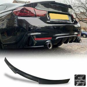 Real Carbon Fiber Trunk Lip Spoiler For 2013 20 Bmw F32 4 series Coupe