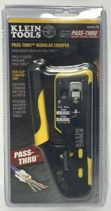 Klein Tools Vdv226 110 Pass thru Modular Wire Crimper All in one Tool