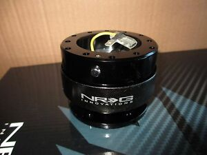 Nrg Quick Release Steering Wheel Adapter Kit Black 6 bolt Hub Gen 2 0