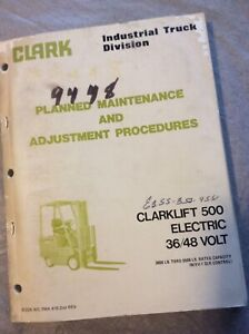 Clark Clarklift Ec 500 30 40 50 Electric Forklift Service Maintenance Manual
