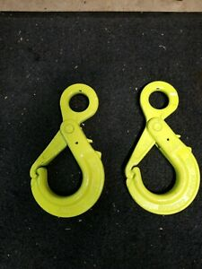 Two Ea 2 New 3 8 Grade G 100 Gunnebo Chain Hooks Obk 10 10 Lifting Clevis Sling