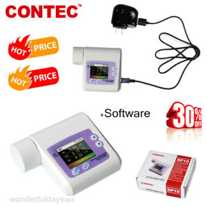 1 8 Color Lcd Portable Spirometer Hand held Equipment Clinique Routine Test