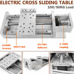 Us cross Slide Linear Rail Module Sliding Table Sfu1605 Ballscrew Hgr15 Xyz Axis