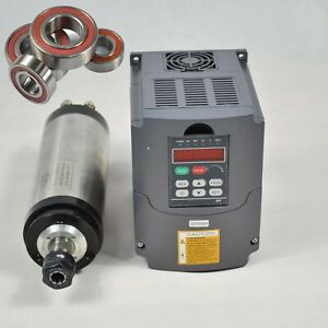 3kw Water cooled Spindle Motor 3kw Matching Inverter Four Bearing 24000rpm Cnc