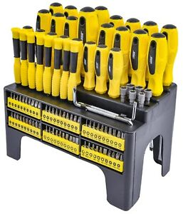 Jegs 100 Piece Screwdriver Bit Set With Storage Rack 81384