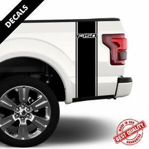 Ford F150 Rear Bed Truck Decals Racing Stripes Set Of Two Stickers 13