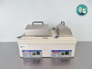 Fisher Isotemp Dual Water Bath 2303 5 And 10 Liter With Warranty See Video