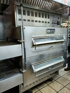 Middleby Marshall Ps 350 360 Double Stack Natural Gas Conveyor Pizza Ovens