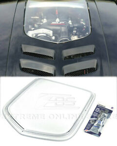 Clear Window Heat Extractor Hood Insert For 10 15 Camaro Polycarbonate Front