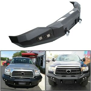 For 2007 2013 Toyota Tundra Front Bumper Steel Winch Ready Black Powder Coated