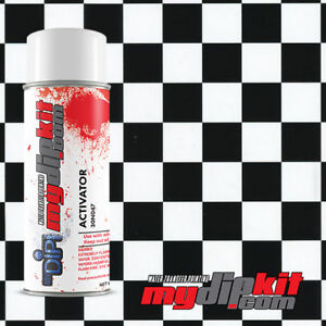 Hydrographic Water Transfer Film Dipping Activator Combo Black Checkered Ll691