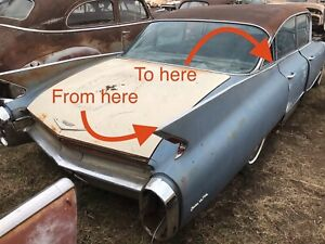 1960 Cadillac Fin Top Trim Parting Out Car Free Shipping