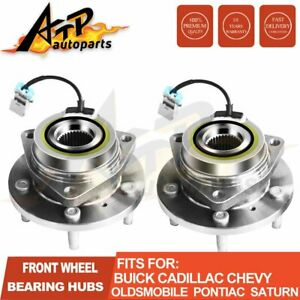2 Front Wheel Hubs Bearing Assembly Set Pair For Gm Car Van Chevy Buick 513179