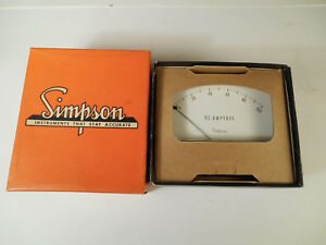 Vintage Nos Simpson Model 1329 0 100 Dc Amps Steampunk