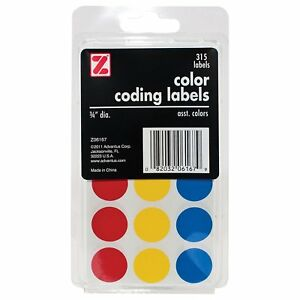 Advantus Self Adhesive Color Coding Labels 3 4 Circle 315 Labels