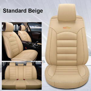 Us Auto Car Beige Pu Leather Seat Covers Cushion For Nissan Altima Sentra Rogue