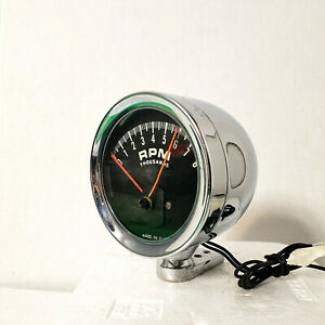 60s Vintage Accurate Ind Accessory Tachometer Hot Rod Muscle Car Chrome Tach Ai