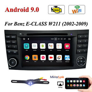For Mercedes Benz W211 W219 E350 7 Gps Car Dvd Radio Player Stereo Android 9 0