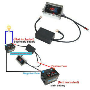 Car Dual Battery Protector Isolator Double Power Supply Controller 12v Positive
