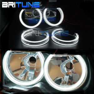 Led Crystal Angel Eye Halo Ring For Bmw E46 Non Projector Headlight Retrofit Drl