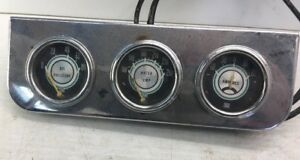 Vtg Stewart Warner 2 1 16 Inch Gauge Trio Water Temp Oil Amps Real Deal Sweet