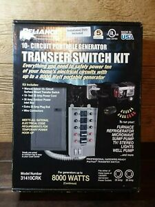 New Reliance 31410crk 10 circuit Portable Generator Power Transfer Switch Kit