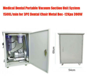 1500l min Dental Portable High Suction Unit Vacuum System 390w 3pc Chair Unit