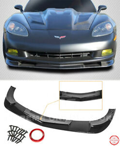 Zr1 Extended Style Front Lip For 05 13 Corvette C6 Base Black Lower Splitter