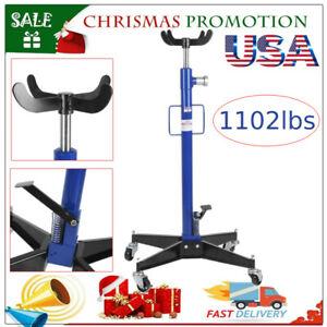 Professional Hydraulic Transmission Jack 1102 Lbs 0 5 Ton 2 Stage For Car Lift