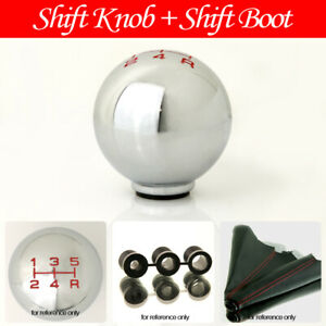 Fit Toyota 5 Speed Manual Gear Zinc Alloy Silver Shift Knob Blk