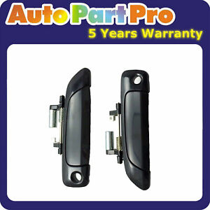 For Honda Civic Smooth Black Ds553 2001 2005 Outside Door Handle Set 2pcs Front