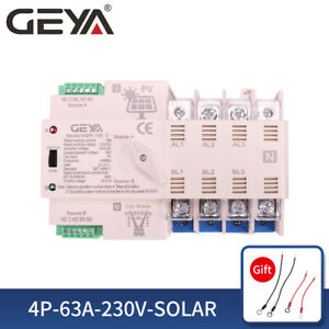 Pv Solar Automatic Transfer Switch 4p 63a 400vac Solar To Grid Dual Power 50 60h