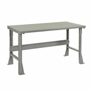 Fixed Height Workbench C channel Flared Leg Steel Square Edge 72 w X 30 d X