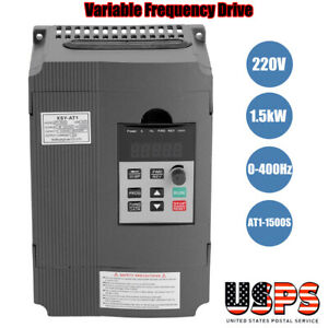 Single 3 phase Variable Frequency Drive Vfd Speed Controller 1 5kw Ac Motor 220v