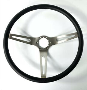 Black 3 Spoke Steering Wheel For 1969 72 Chevy Chevelle Nova Camaro