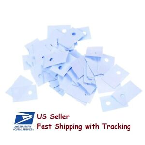 100 Pcs Silicon Thermal Heatsink Insulator Pads For To 220 Transistor us Seller