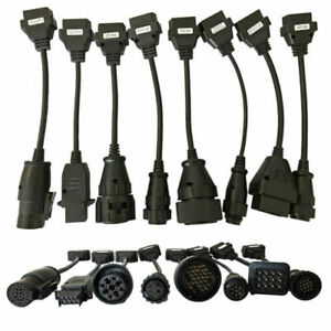 8x Set Obd1 To Obd2 Truck Cable For Autocom Cdp Pro Diagnostic Interface