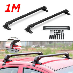 47 Aluminum Car Top Roof Luggage Rack Cross Bar Carrier Adjustable Window Frame