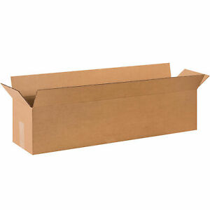 36 X 8 X 8 Long Cardboard Corrugated Boxes 65 Lbs Capacity Ect 32 Lot Of