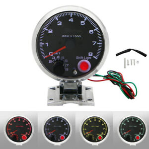 12v Car 3 75 Inch Tachometer Tacho Gauge With Shift Light Universal Usa