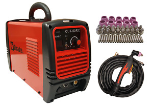 Plasma Cutter 50 Cons Simadre 50rx 110 220v 50 Amp 1 2 Clean Cut Easy 60a Torch